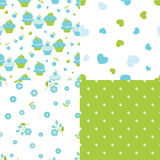 Set of abstract seamless patterns Royalty Free Stock Photos
