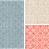 Set of 3 abstract seamless patterns Stock Photos