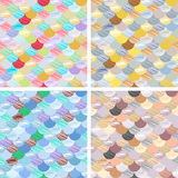 Set Abstract seamless patterns set. Japanese style, fish scale. Golden, blue, white colors and splash. Vector backgrounds for fabr. Ic, wallpaper and wrap Stock Image
