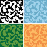 Set of abstract seamless patterns - vector camouflage Royalty Free Stock Photos