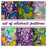 A set of abstract seamless patterns. Vector illustration Royalty Free Stock Photo