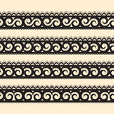 Set of abstract seamless ribbon. Abstract seamless ribbon for your design royalty free illustration