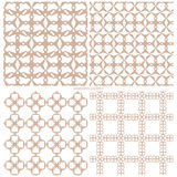 Set of abstract seamless samples of a grid of geometrical figure. S.  Vector illustration Stock Photo