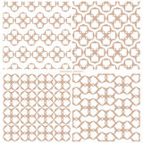 Set of abstract seamless samples of a grid of geometrical figure. S.  Vector illustration Royalty Free Stock Photo