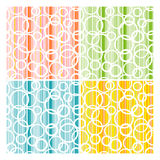 Set of abstract seamless texture Stock Photos