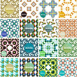 Set of abstract seamless textures. Geometric. Shapes. Modern backgrounds vector illustration