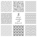Set Of Abstract Seamless Web Backgrounds Royalty Free Stock Image