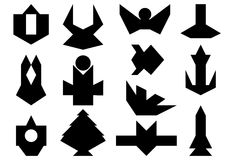 Set of abstract shapes Royalty Free Stock Image