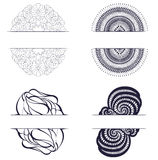 Set with abstract shapes. Stock Images