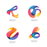 Set of abstract shapes for trendy logo, label, icons. Vector modern backgrounds and design elements. Abstract 3d sphere stock illustration