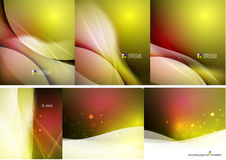 Set of abstract shining backgrounds Stock Photos