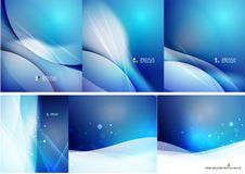 Set of abstract shining backgrounds Royalty Free Stock Photo