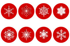 Set of abstract snowflakes Stock Photography