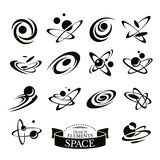 Set of abstract space icons Stock Image
