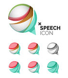 Set of abstract speech bubble and cloud icons Royalty Free Stock Photos