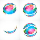 Set of abstract sphere icons Royalty Free Stock Photography