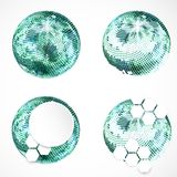 Set of abstract sphere icons Stock Image