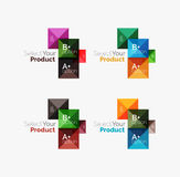 Set of abstract square interface menu navigation button Stock Image