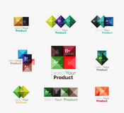 Set of abstract square interface menu navigation button Stock Photography