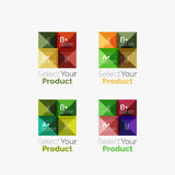 Set of abstract square interface menu navigation button Royalty Free Stock Images