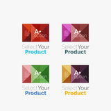 Set of abstract square interface menu navigation button Stock Photo