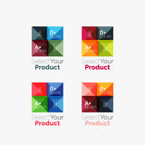 Set of abstract square interface menu navigation button Stock Photos