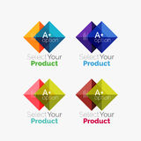 Set of abstract square interface menu navigation button Stock Images