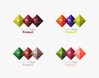 Set of abstract square interface menu navigation button Royalty Free Stock Photography