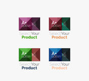 Set of abstract square interface menu navigation button Royalty Free Stock Image