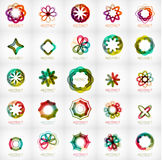 Set of abstract star flower shape logos Royalty Free Stock Photos