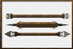 Set abstract steampunk bars banners objects Royalty Free Stock Photography