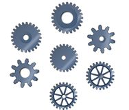 Set of abstract steel wheel cogs Royalty Free Stock Image