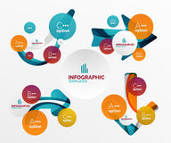 Set of abstract step infographics Royalty Free Stock Image