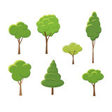 Set of abstract stylized trees. Natural illustration Royalty Free Stock Photos