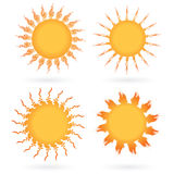 Set of abstract suns Stock Photos
