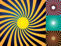 Set of abstract suns Stock Photography
