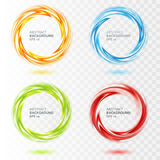 Set of abstract swirl circle on transparent Royalty Free Stock Photo