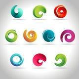 Set of abstract swirl vector illustration