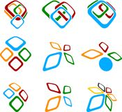 Set of abstract symbols. Abstract abstract symbols. Vector illustration Royalty Free Stock Image