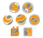Set of abstract symbols. Set of different abstract symbols for design Stock Photography