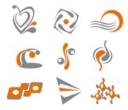 Set of abstract symbols. Set of different abstract symbols for design Stock Photos