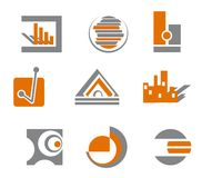 Set of abstract symbols. Set of different abstract symbols for design Royalty Free Stock Images