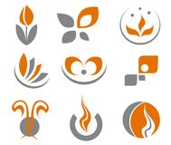 Set of abstract symbols. Set of different abstract symbols for design Royalty Free Stock Photo