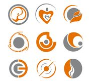 Set of abstract symbols. Set of different abstract symbols for design Stock Photo