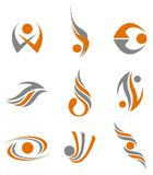 Set of abstract symbols. Set of different abstract symbols for design Stock Image