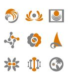 Set of abstract symbols Stock Photo