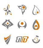 Set of abstract symbols Royalty Free Stock Photos