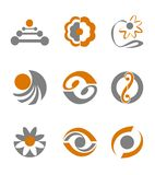Set of abstract symbols. Set of different abstract symbols for design Stock Images