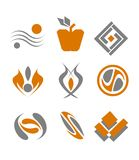 Set of abstract symbols. Set of different abstract symbols for design Royalty Free Stock Photos
