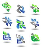 Set of abstract symbols. Set of color abstract symbols for design Stock Photos